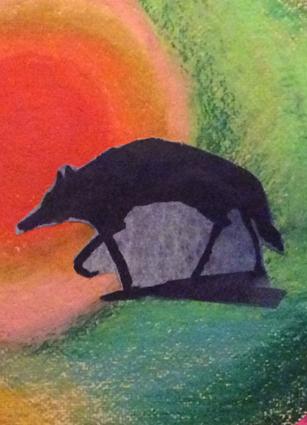 Artwork depicting depression