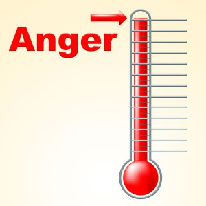 Thermometer Anger Showing Angry Cross And Celsius